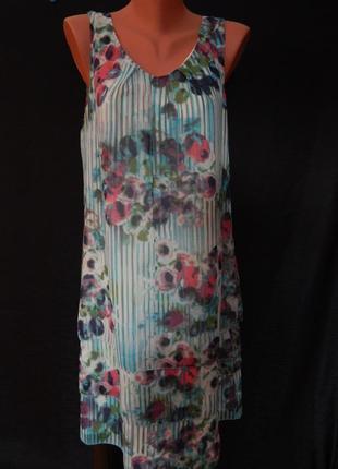 Comma каскадное нежное легкое платье(размер 36)
