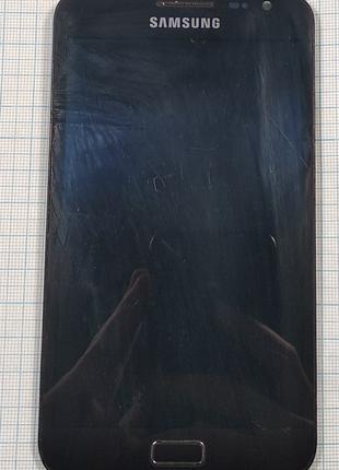 Дисплей (модуль) для Samsung GT-N7000 з сенсором та  рамкою (Orig