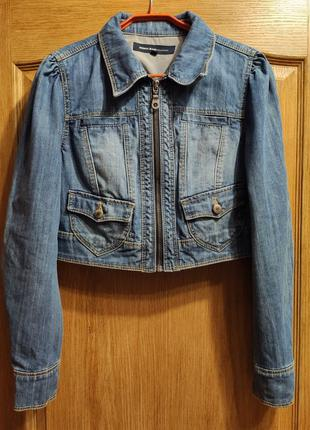 Jeans geisha короткая джинсовая куртка, пиджак, джинсовка на м...