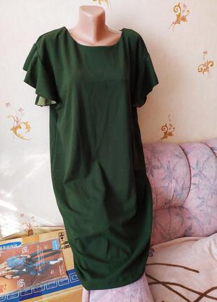 Платье цвета хаки большого размера