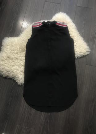 Чёрное платье блуза h&m