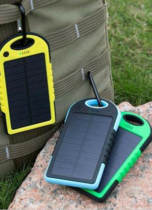 Портативное зарядное Power Bank Solar 50000 mAh на солнечной бата