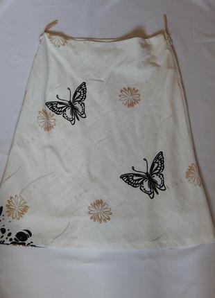 Турецкая юбка c  бабочками  polen poe (размер 42)