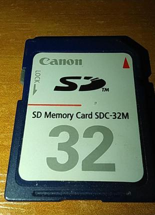Карта памяти 32 МБ Canon