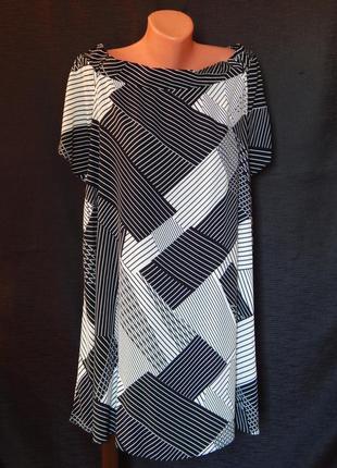 Платье прямого покроя с открытыми плечами от new look (размер 16)