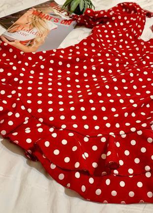 Красное платье в горошек 💔