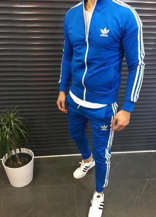 Мужской спортивный костюм Adidas синий;
