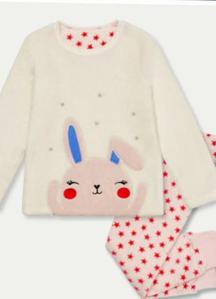 Теплые флисовые пижамы на девочек