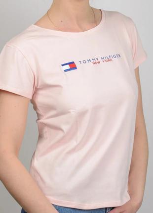 Женская футболка, логотип Tommy Hilfiger