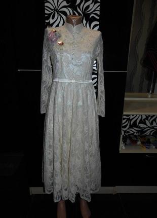 Очень нарядное свадебное платье в стиле ретро - vshop- m - этикет