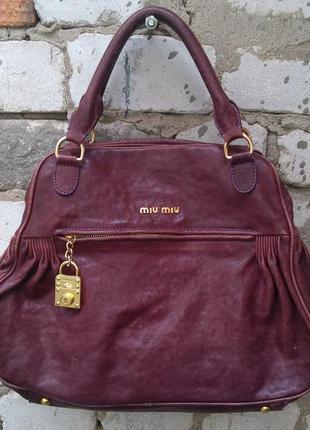 Miu miu оригинал сумка большая натуральная кожа