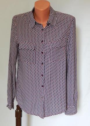 Стильная рубашка от немецкой марки olsen (размер 36-38)