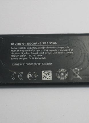 Акумулятор BN-01 до телефону Nokia: X, X+ Original б/в