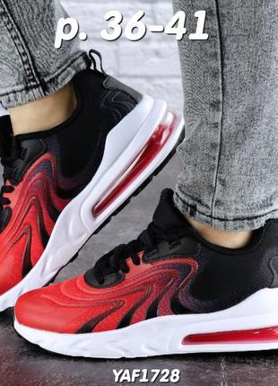 Легкие женские кроссовки, черные с красным, весна, лето, 36-41