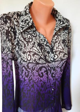 Красивая блузка-плиссе от simply (размер 12-14)