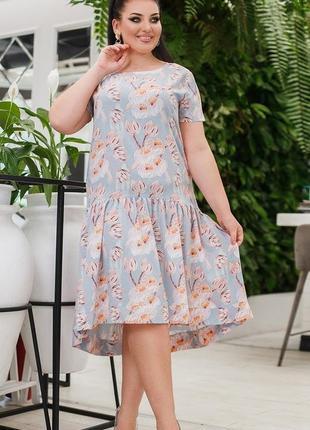 Платье женское большого размера, платье батал,турция, плаття ж...