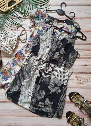 Летний сарафан платье с узорами в бохо стиле