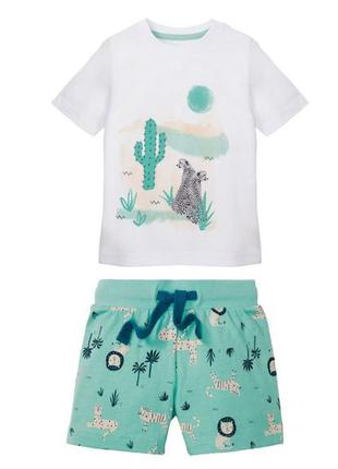 Костюм летний для мальчика футболка и шорты lupilu. германия....