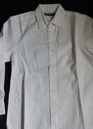 Белая рубашка на мальчика  flip back 9-10 лет (рост134-140 см)
