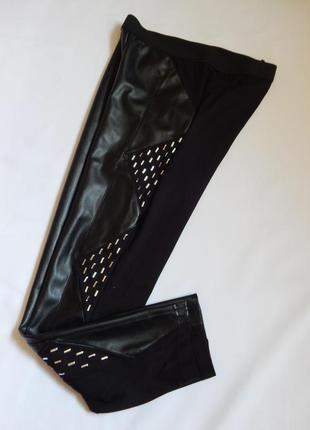 Стильные красивые лосины*леггинсы *брюки из эко-кожи от gloock...