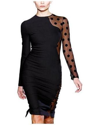 Вечернее оригинальное черное платье miusol (размер 14)