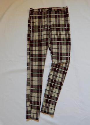 Трикотажные  брюки* штаны*леггинсы высокой посадки от asos (ра...