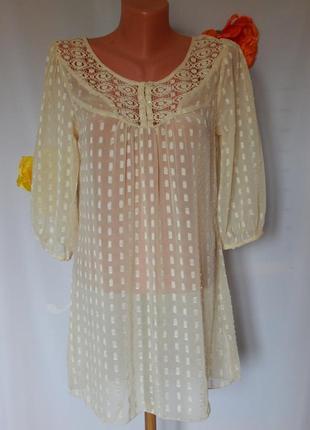 Светло-бежевая*нюдовая блузка george (размер 40)