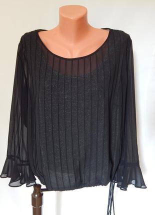 Вечерняя красивая блузка с нижней майкой от wind smoor (размер...