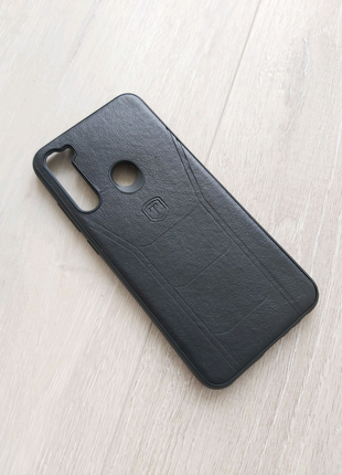 Xiaomi Redmi Note 8T чехол кожа черный