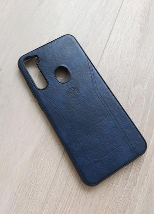 Xiaomi Redmi Note 8t чехол кожа синий