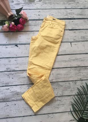 Жёлтые джинсы скинни next