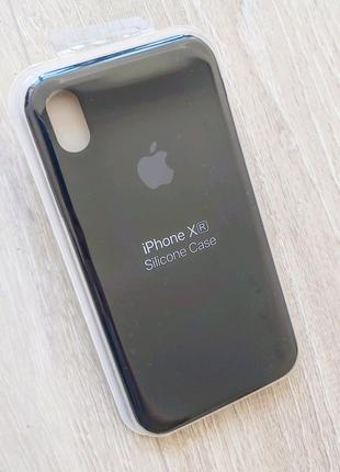 IPhone Xr силиконовый чехол черный