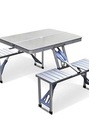 Раскладной туристический стол и стулья Folding Picnic Table 86x68