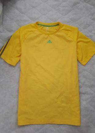 Adidas оригинал с системой climacool/мужская желтая футболка/ ...