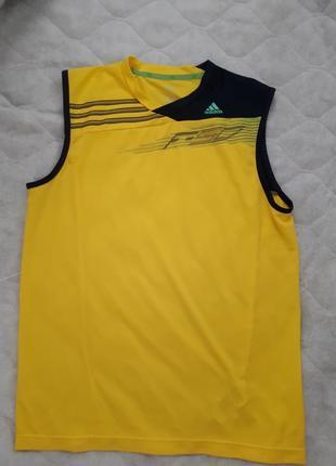 Adidas оригинал с системой climalite/мужская желтая футболка /...