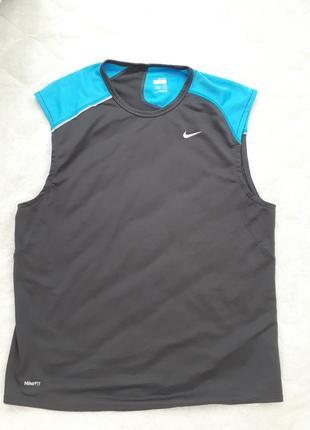 Nike оригинал с системой fit-dry/мужская футболка /безрукавка/...