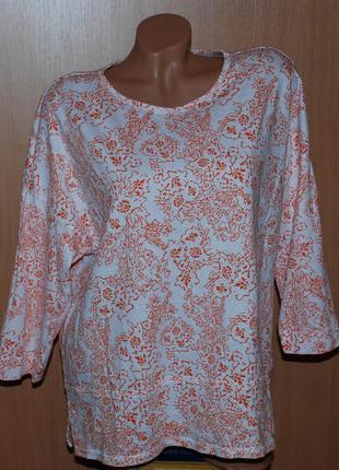 Блуза принтованая бренда marks & spencer /97%хлопок /