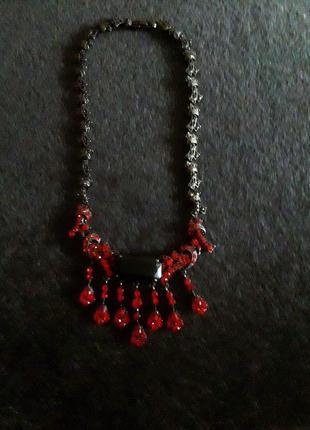 Бижутерия!колье,ожерелье,подвеска с камнями!