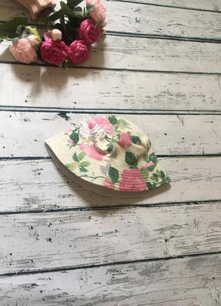 Панамка цветочная шляпа кепка