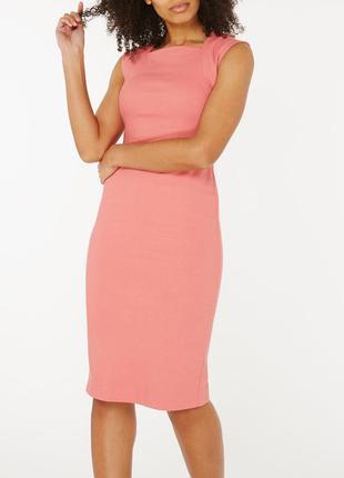 Стрейч платье карандаш цвета пыльной розы 22/56-58 размера
