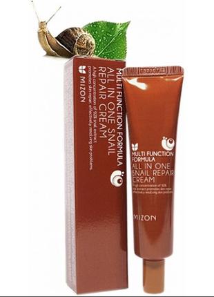 Улиточный крем mizon all in one snail repair cream 92%, 35 мл....