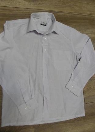 Белая рубашка в полоску