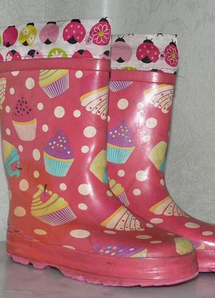 Детские розовые резиновые сапоги для девочки Tom.M 32 размер