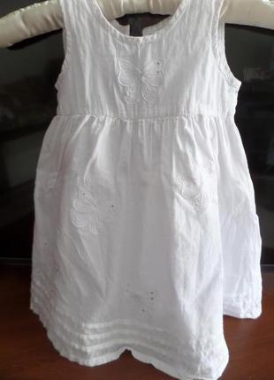 Белое летящее детское платье