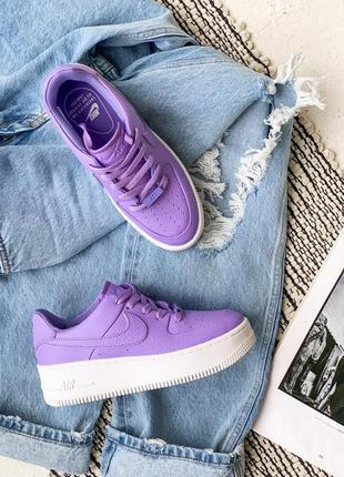 Кроссовки nike air force 1 purple