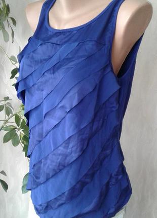 Майка синяя с волнами