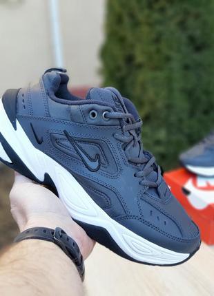 Шикарные мужские кроссовки nike m2k tekno серые