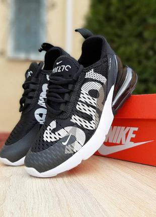 Прекрасные мужские кроссовки nike air max 270 supreme черные