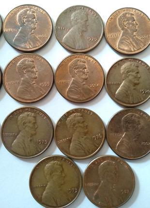 Монети США (1 цент)