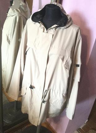 Длинная куртка ветровка на 54-56 размер xxxl